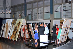 Easels being used at an event